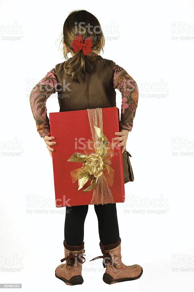 Secret gift royalty-free stock photo