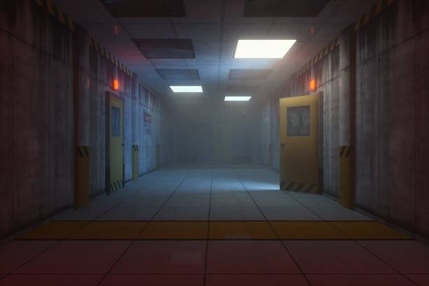 Secret government underground facility Secret government underground facility. bomb shelter stock pictures, royalty-free photos & images