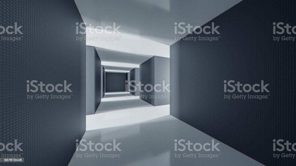 Secret government underground facility stock photo
