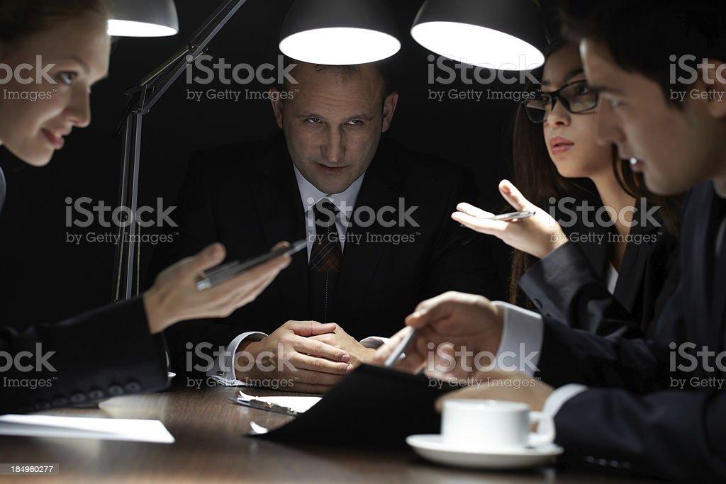 Secret meeting royalty-free stock photo
