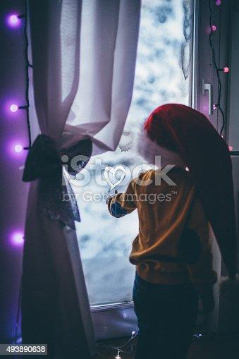 istock Secret message for Santa Clause 493890638