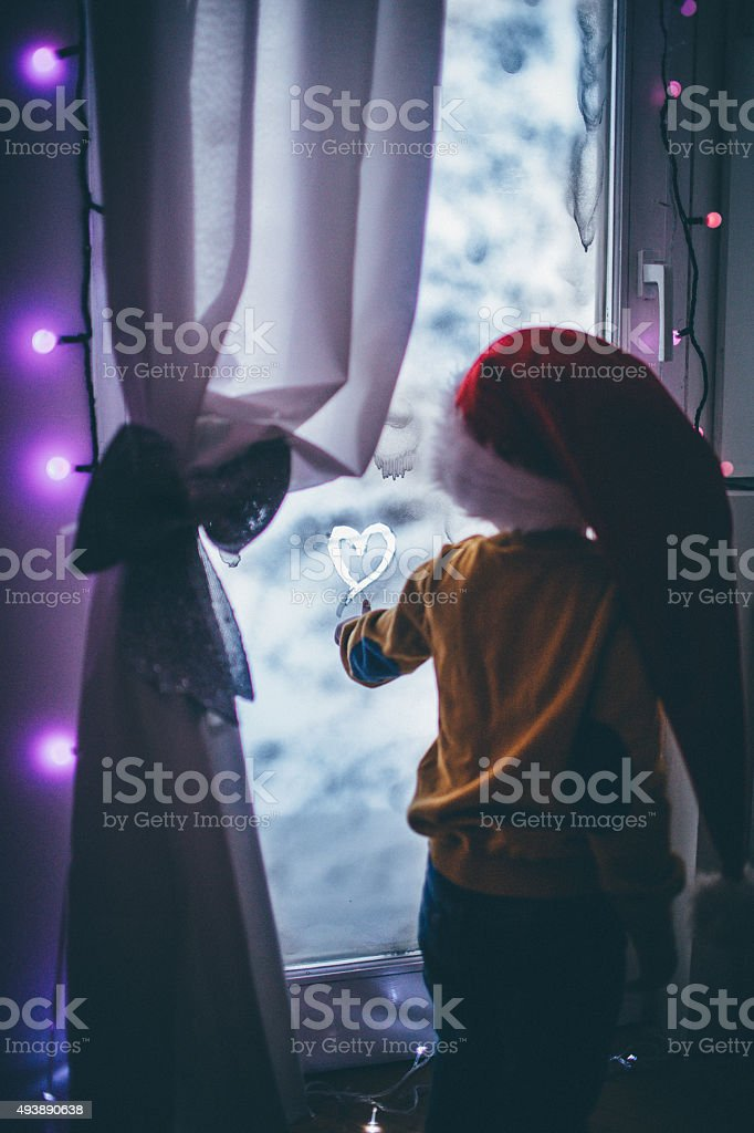 Secret message for Santa Clause stock photo