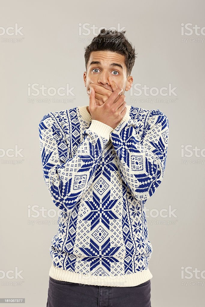 Secret not to be shared royalty-free stock photo