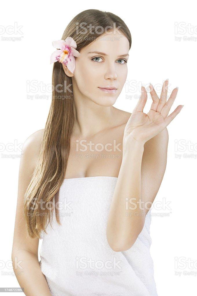 Secret of beauty royalty-free stock photo