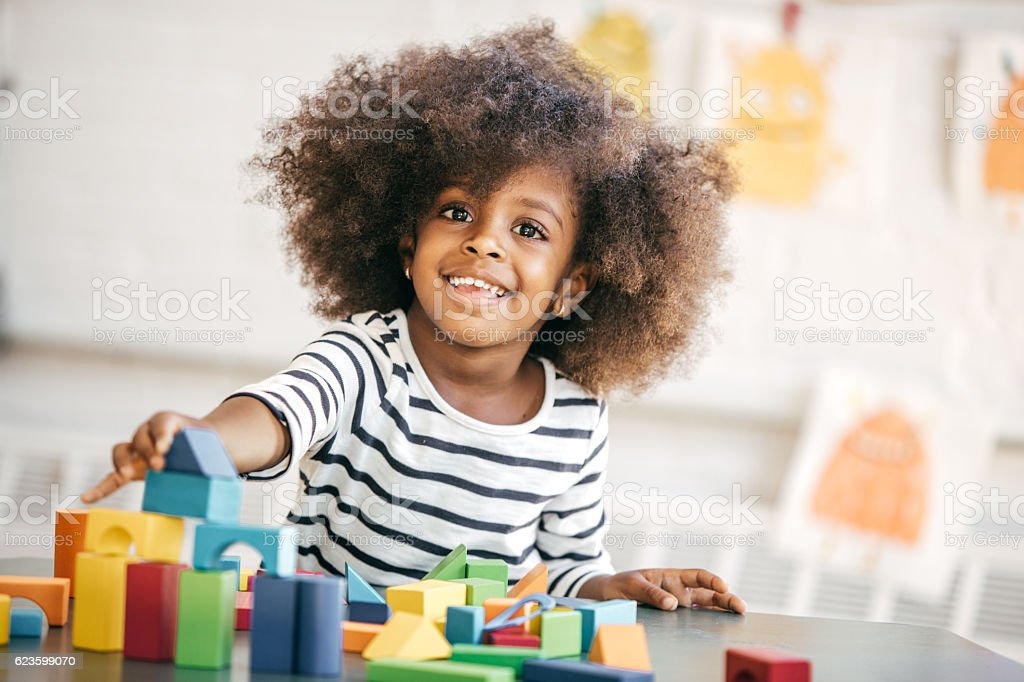 Secret of confident child stock photo