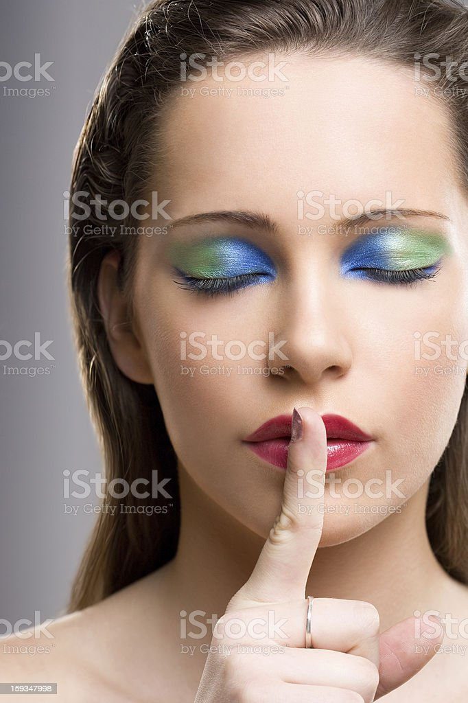 Secret of my beauty. stock photo