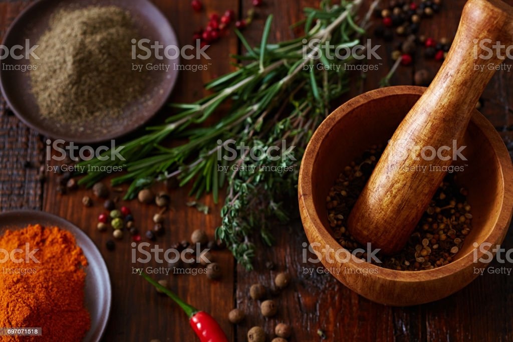 Secret of rich flavors stock photo