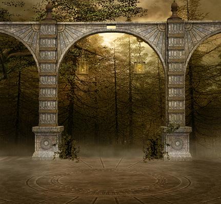 Secret passage in the woodland