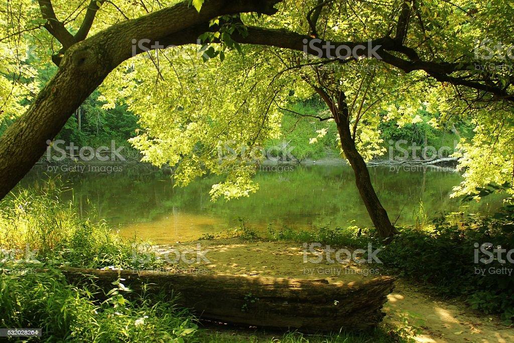 Secret Riverside Hideaway stock photo