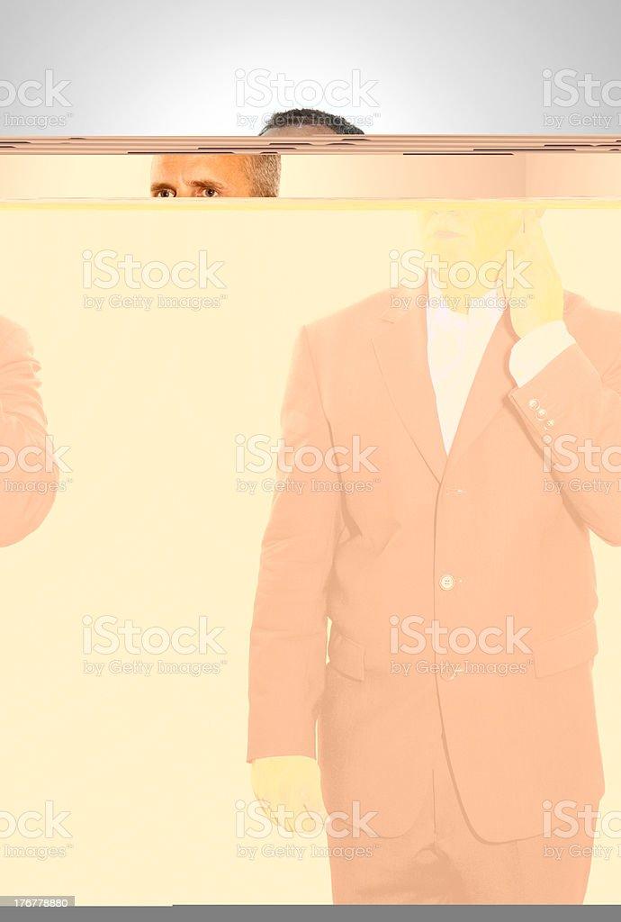 Secret Service Agent Listening royalty-free stock photo
