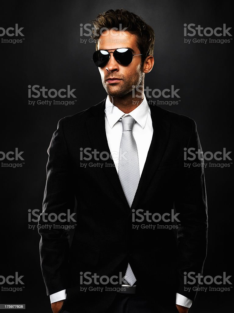Secret service agent Lizenzfreies stock-foto