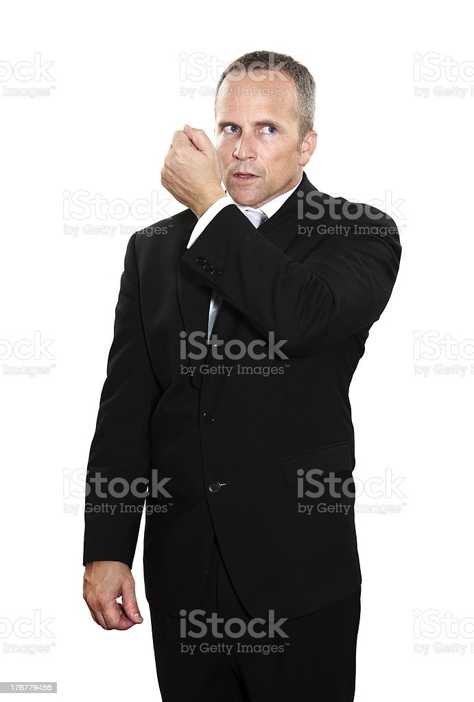 Secret Service Agent royalty-free stock photo