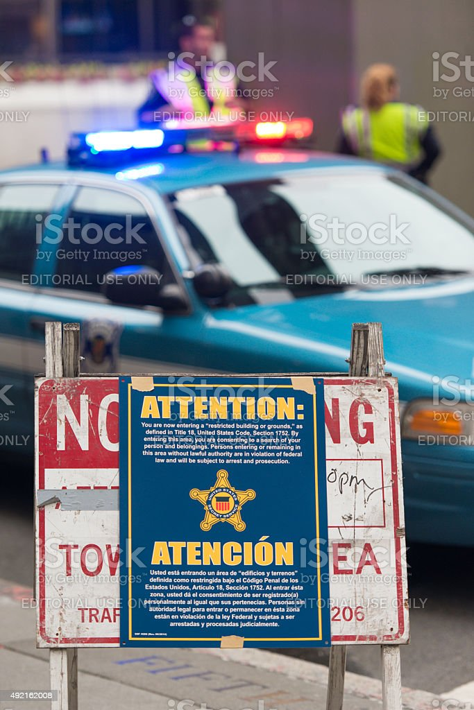 Secret Service Sign stock photo