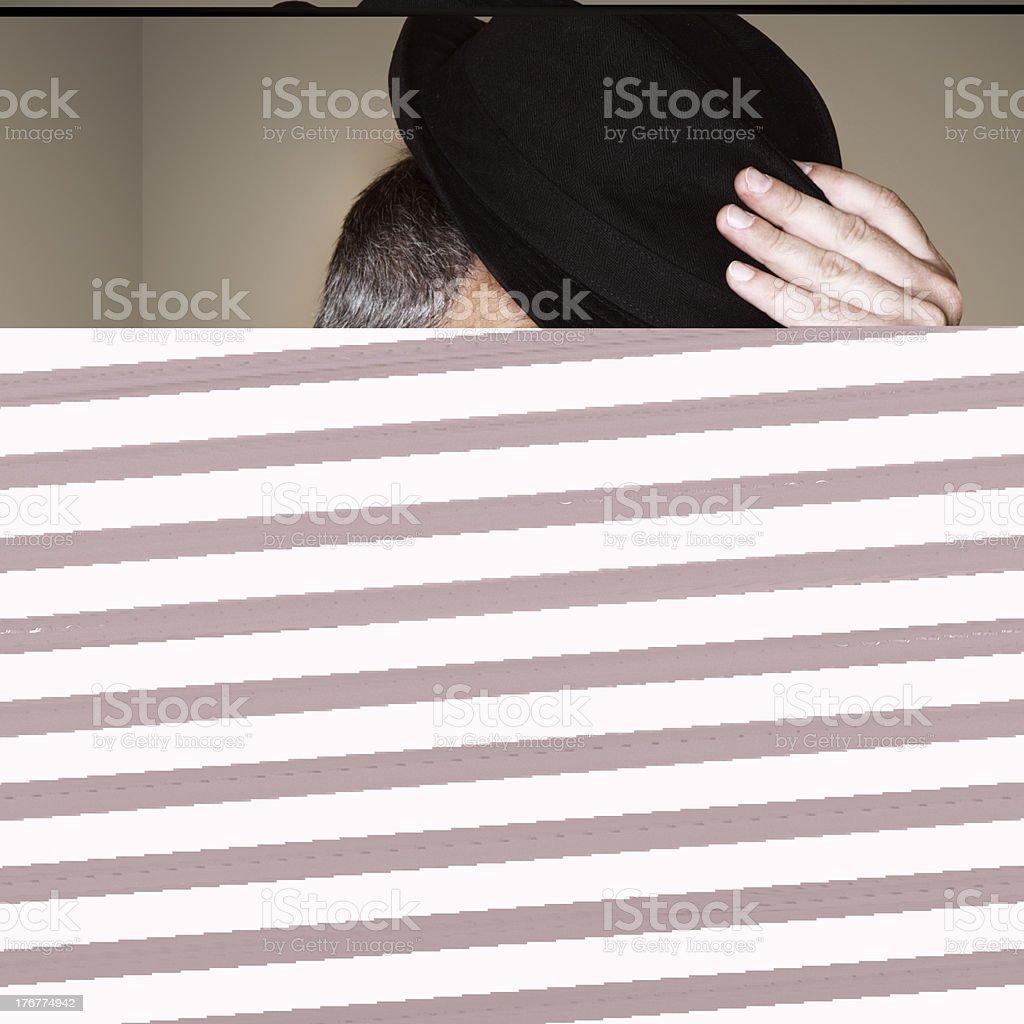 Secret Service Talking into Sleeve royalty-free stock photo