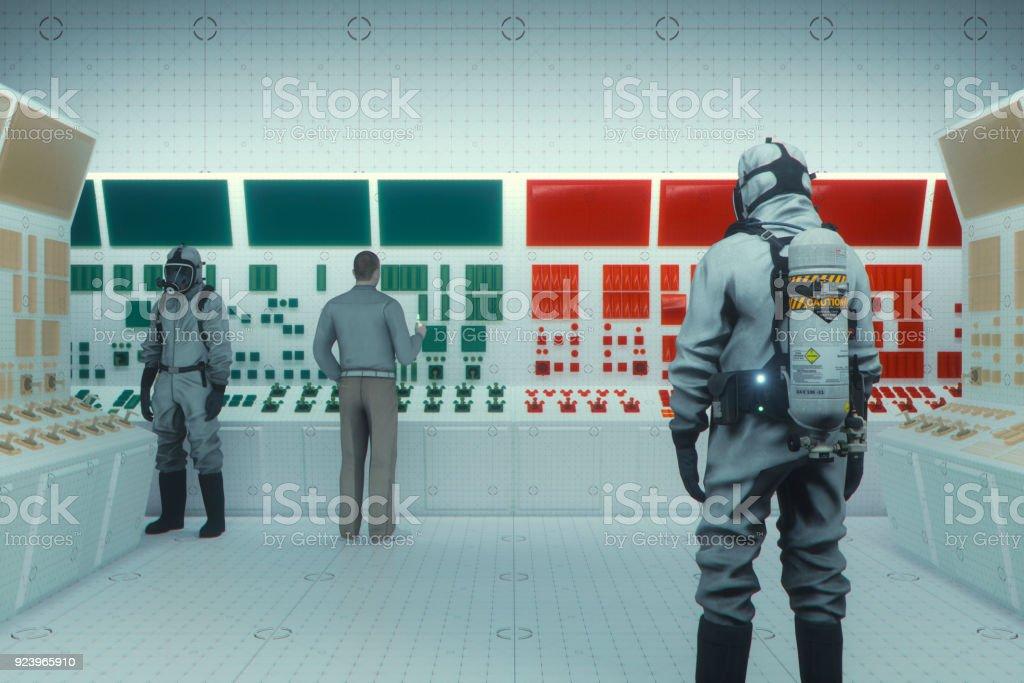 Secret underground facility stock photo