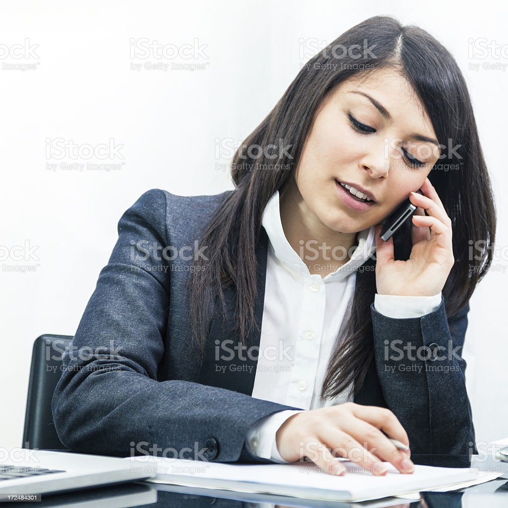Secretary customer service agent royalty-free stock photo