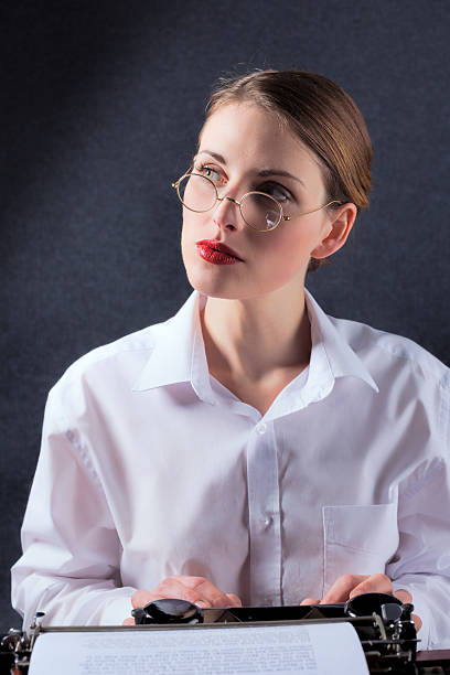 Secretary From The 1930s Or 1940s stock photo
