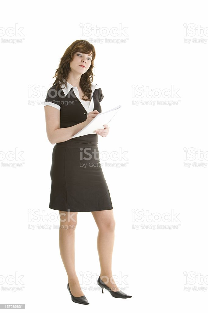 Secretary in black shirt royalty-free stock photo