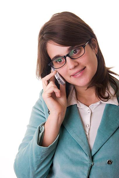 secretary oder business-frau sprechen auf ein handy - elemi stock-fotos und bilder