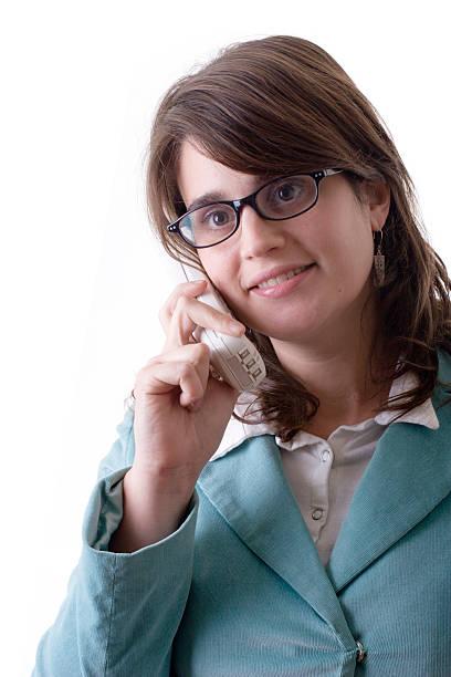secretary oder business-frau spricht am telefon - elemi stock-fotos und bilder