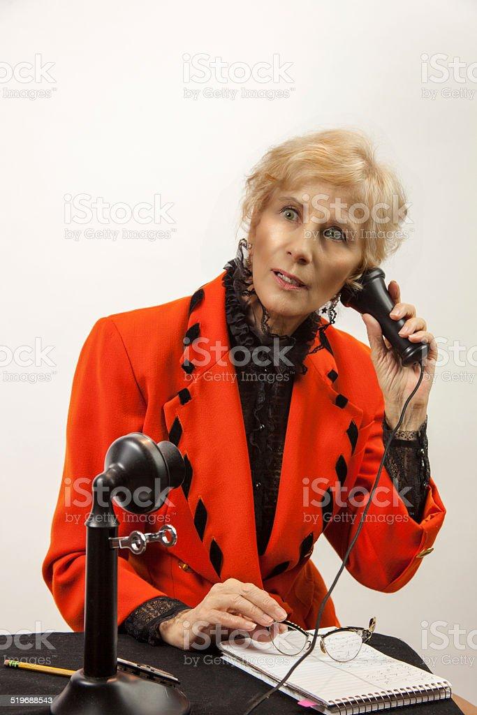 Secretary Using The Phone stock photo