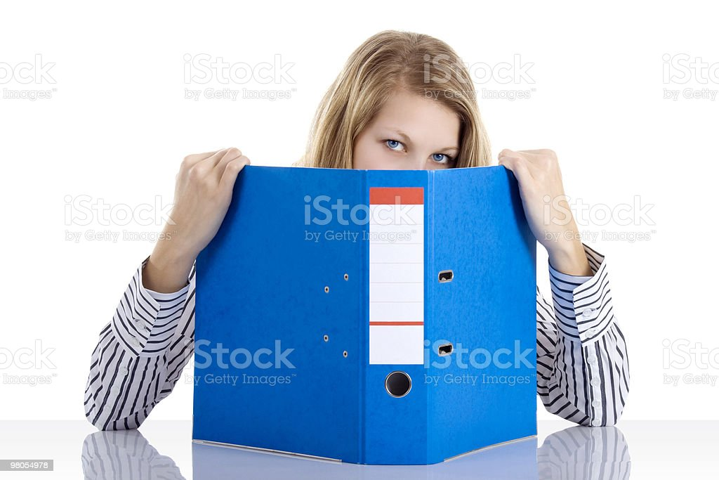 Secretary with file royalty-free stock photo