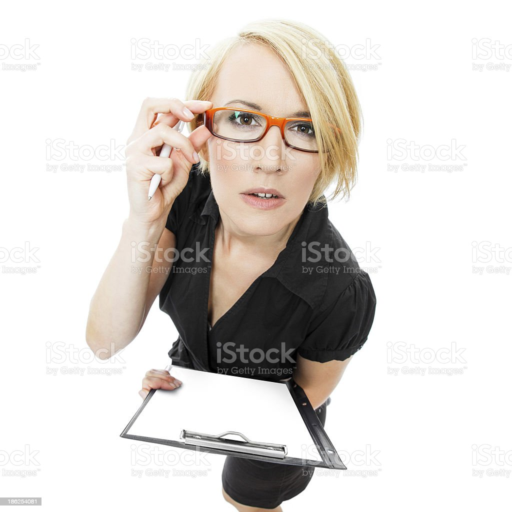 Secretary with notepad royalty-free stock photo