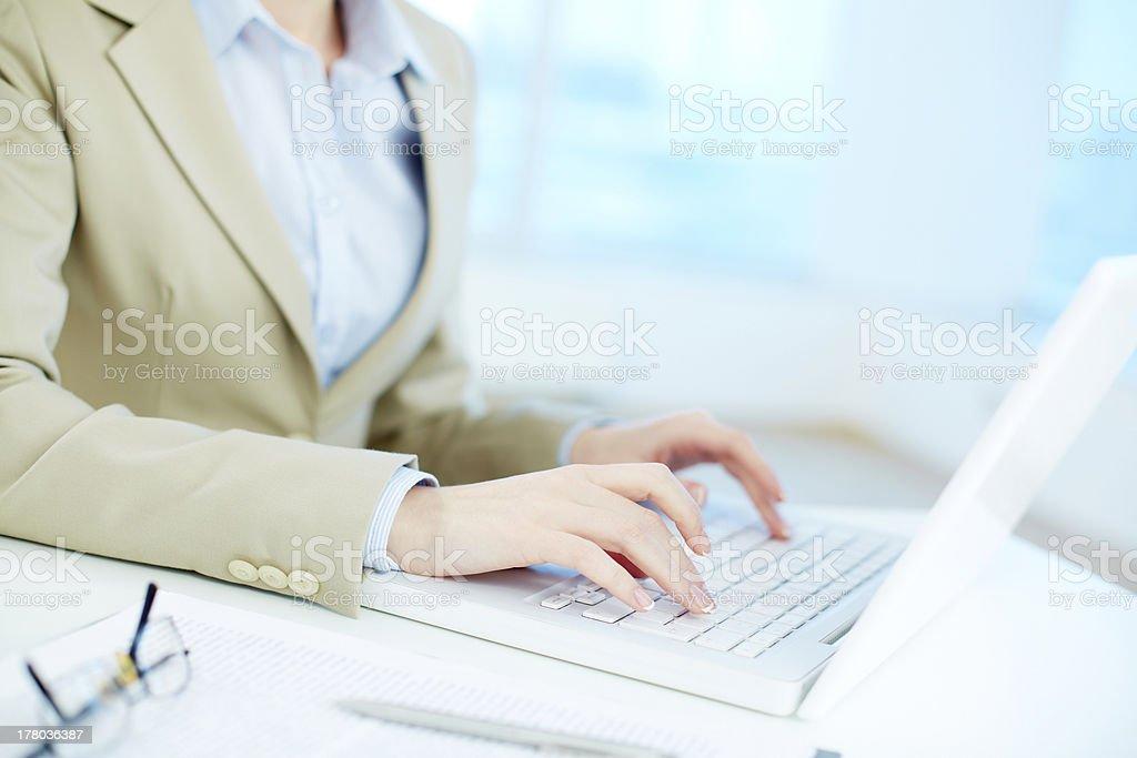 Secretary working royalty-free stock photo