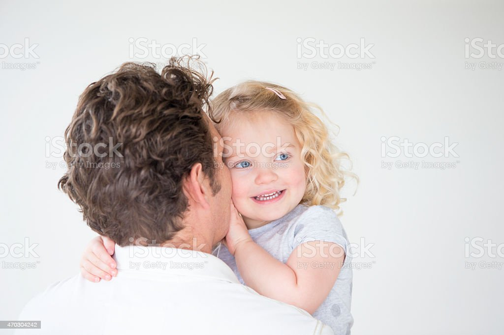 Secrets from Daddy stock photo
