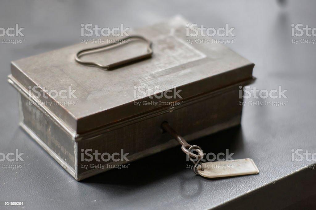 Secrets under lock and key stock photo