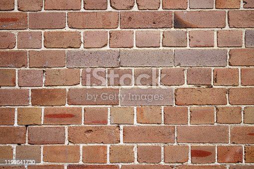 Red brick wall detail.
