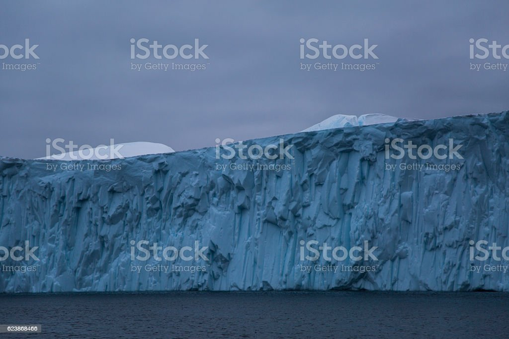 section of a large iceberg stock photo