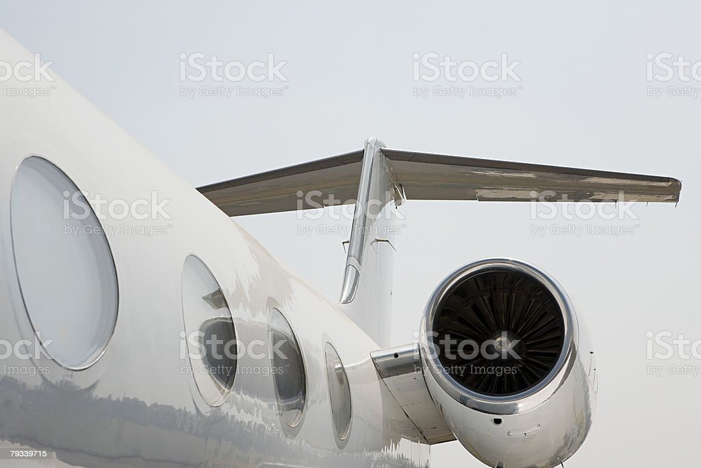 Section of a private airplane stock photo