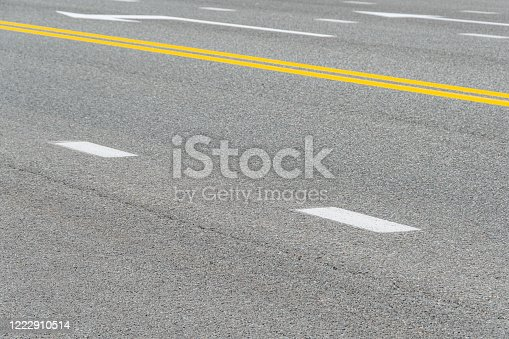 833130962 istock photo section of dry asphalt road with road markings 1222910514