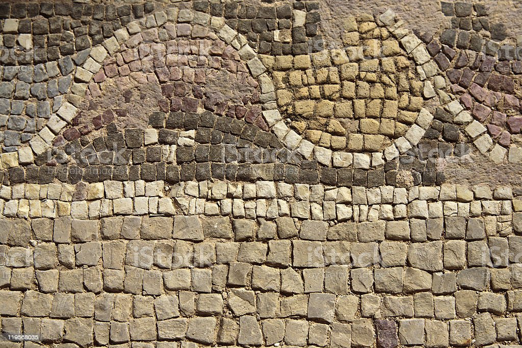 Section of Mosaic Floor royalty-free stock photo
