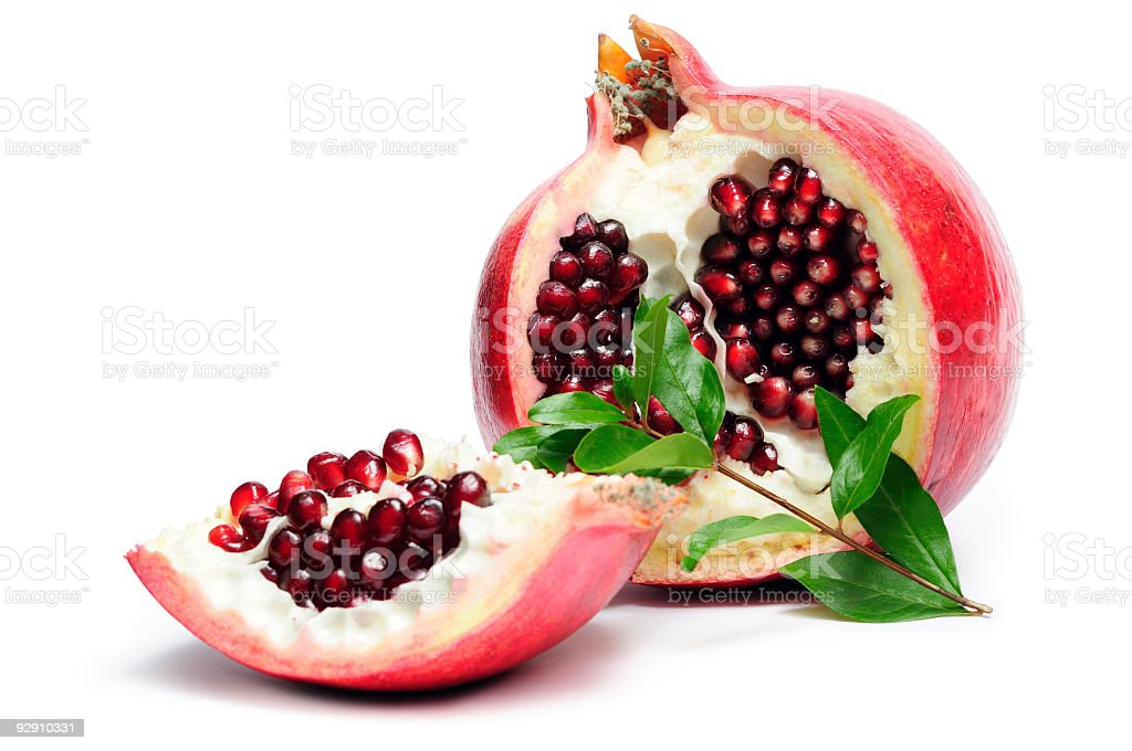 Section of pomegranate royalty-free stock photo