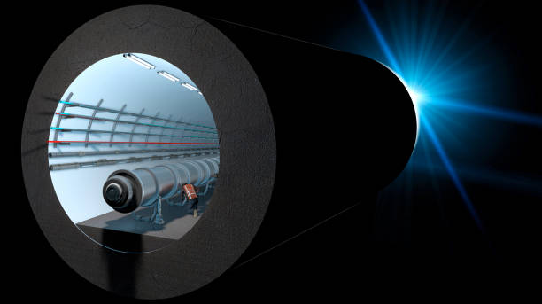 Section of the Cern tunnel. European Organization for Nuclear Research. CERN's main function is to provide the particle accelerators and other infrastructure needed for high-energy physics research Section of the Cern tunnel. European Organization for Nuclear Research. It is the largest laboratory in the world of particle physics. 3d rendering large hadron collider stock pictures, royalty-free photos & images