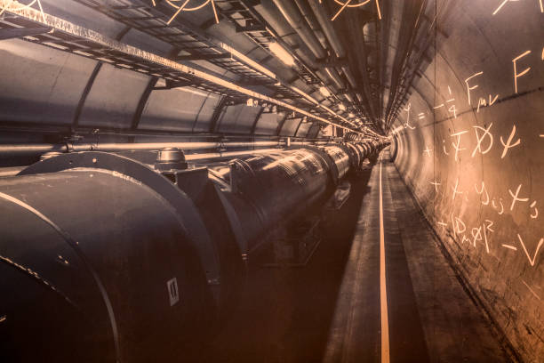 Section of the Cern tunnel. European Organization for Nuclear Research. CERN's large hadron collider stock pictures, royalty-free photos & images