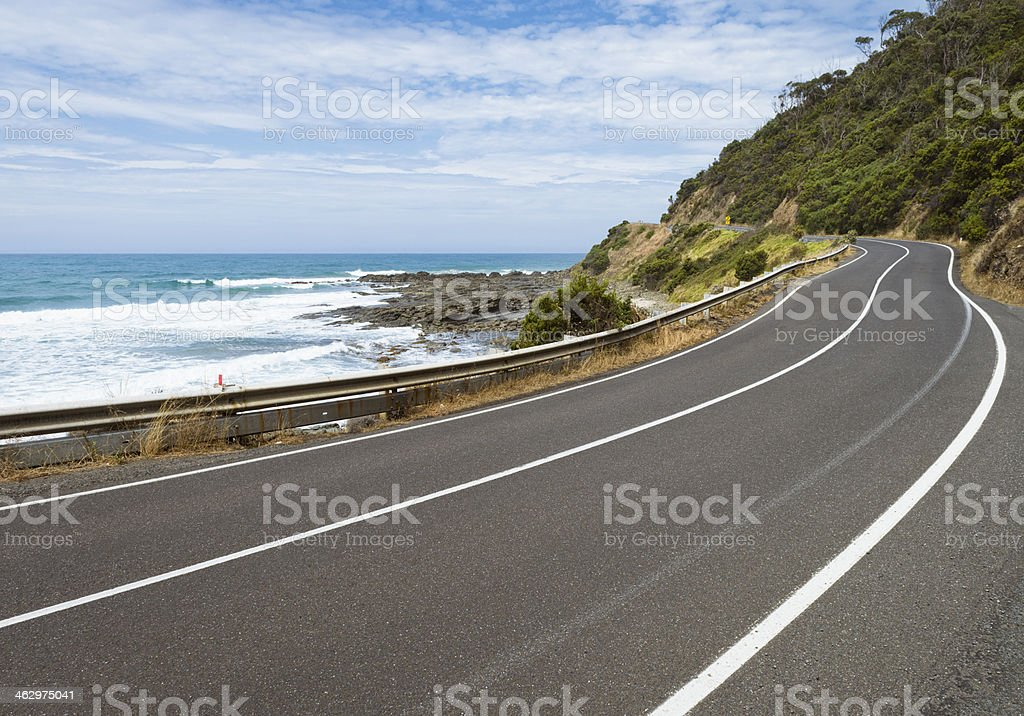 Section of the Great Ocean Road stock photo
