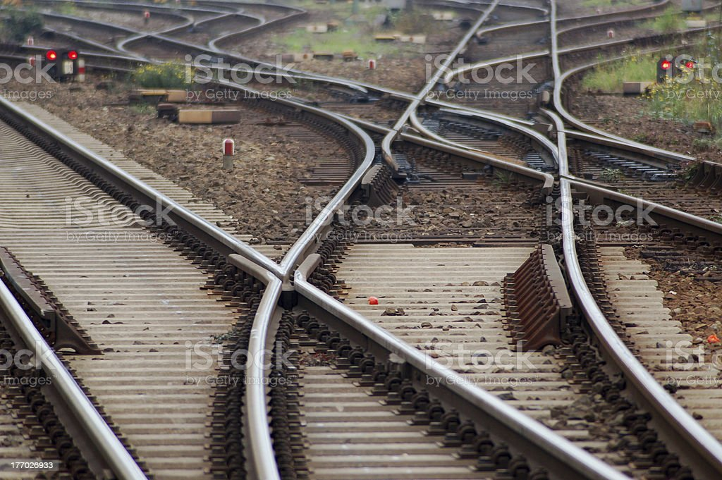Section of track royalty-free stock photo