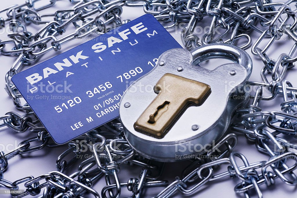 Secure banking royalty-free stock photo
