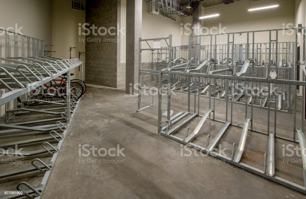 Secure Bicycle Storage stock photo