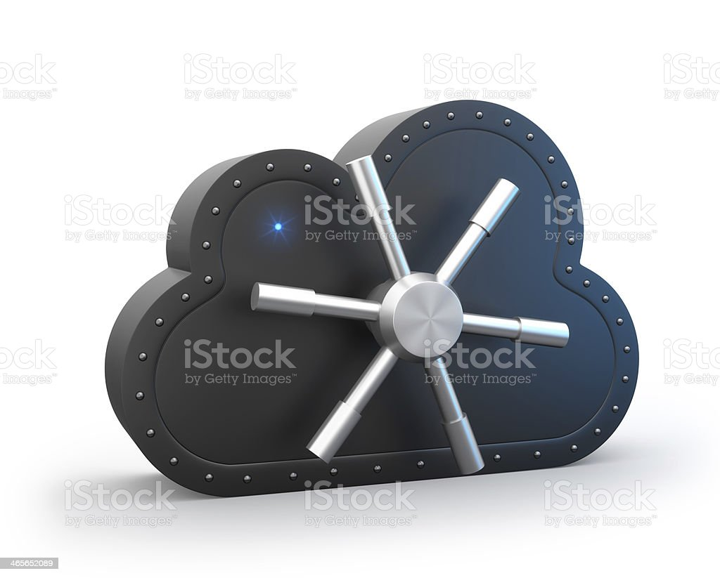 Secure cloud royalty-free stock photo