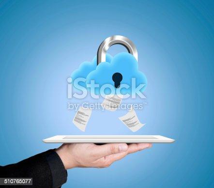 istock Secure cloud storage 510765077