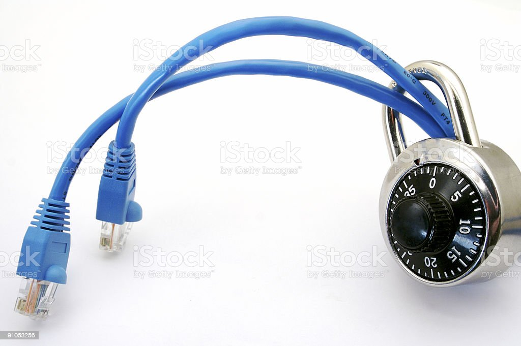 Secure Connection to Internet stock photo