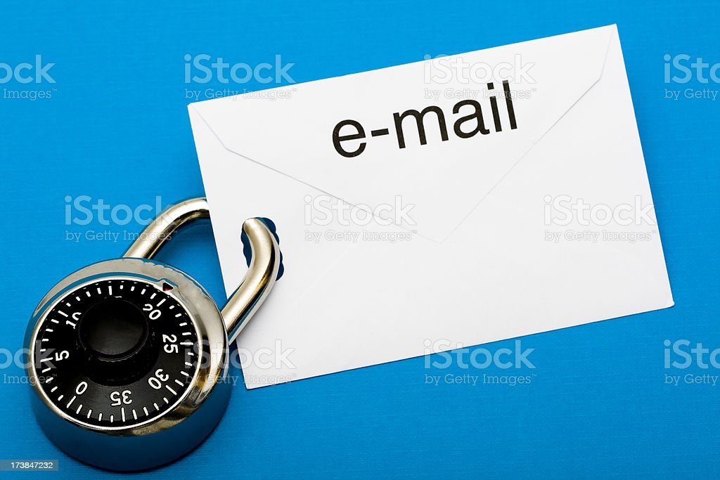 Secure e-mail royalty-free stock photo