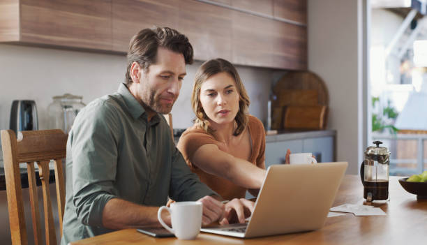 A secure financial plan makes for a secure marriage stock photo