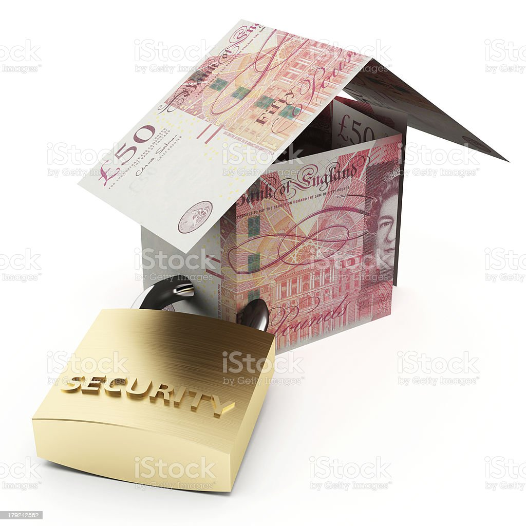 Secure house pounds royalty-free stock photo