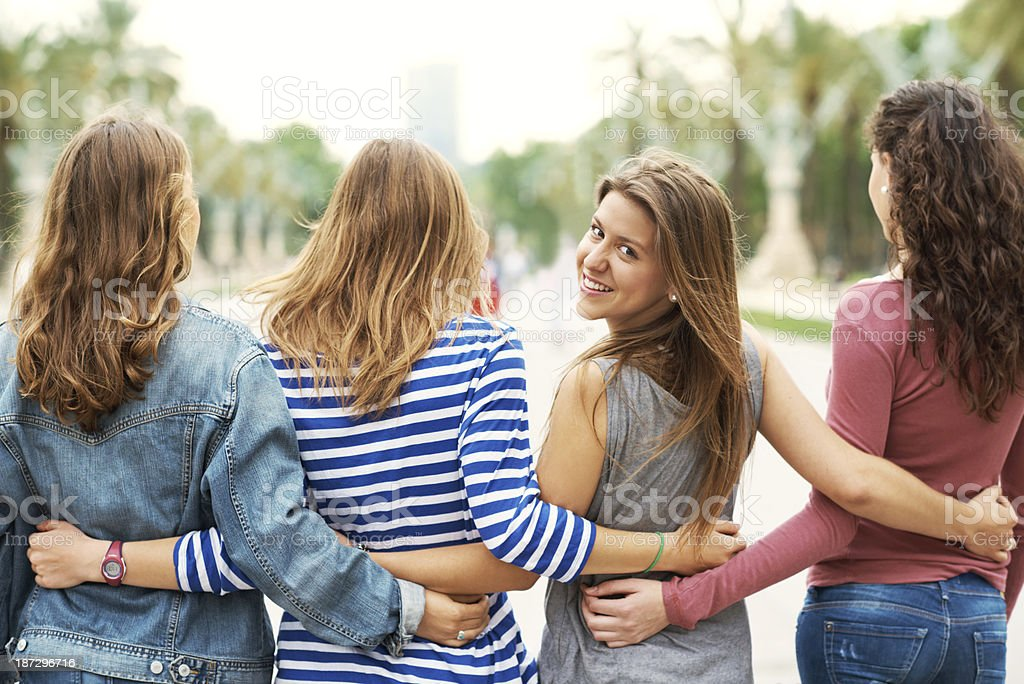 Secure in their friendship royalty-free stock photo