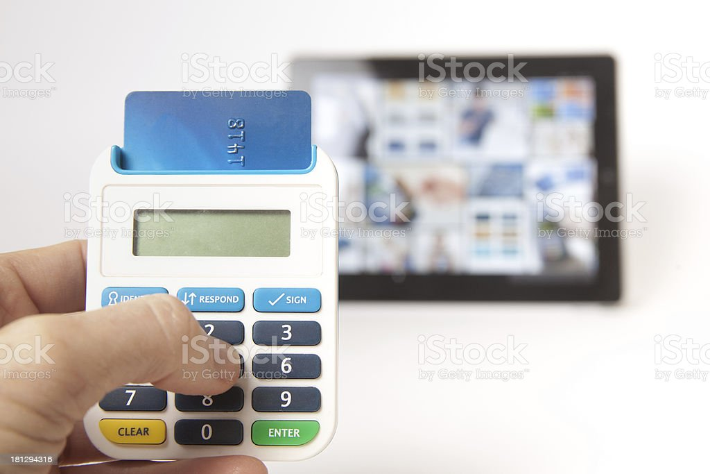Secure internet banking stock photo